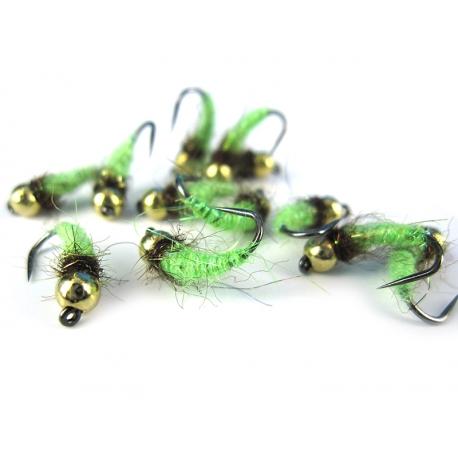 TC Caddis Pupa Fluo Green