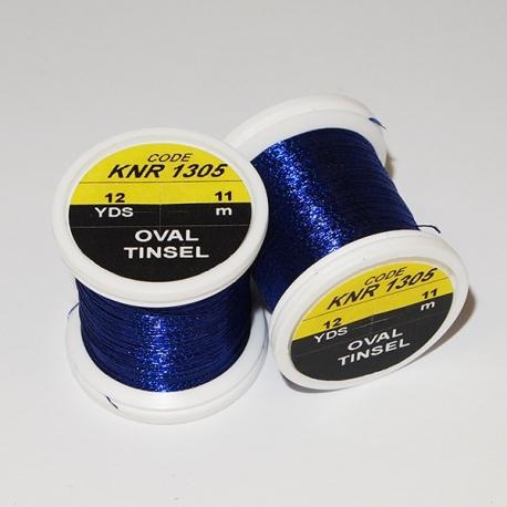 Hends Oval Tinsel / Dark Blue 1305