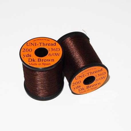 Uni Thread 6/0 Dark Brown