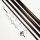 NEXTackle SDF 7.6ft 3wt 4pc Fly Rod Blank + Pac Bay Single Foot Guide Set