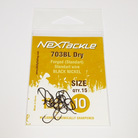 NEXTackle 703 BL Dry Fly Hooks size 10