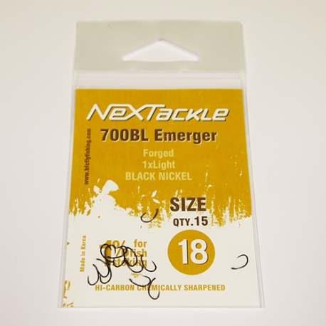 NEXTackle 700 BL Emerger Hooks size 18