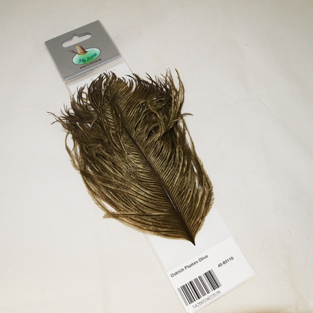 Fly Scene Ostrich Plumes  / Olive
