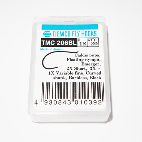Tiemco 206 BL Fly Hooks Size 18