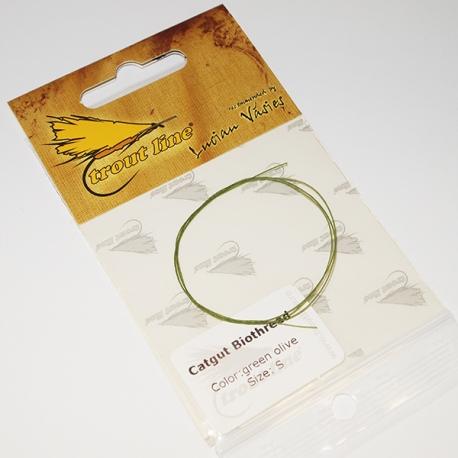 Trout Line Catgut S Green Olive