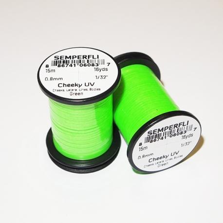 Semperfli Cheeky UV Flat Tinsel Green