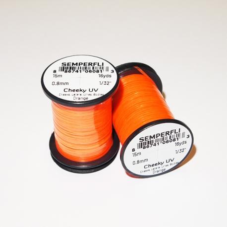 Semperfli Cheeky UV Flat Tinsel Orange