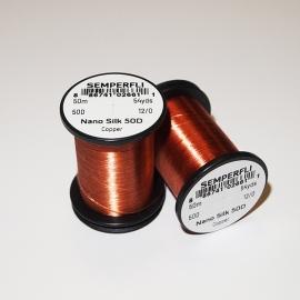 Semperfli Nano Silk 50D 12/0 Thread / Cooper