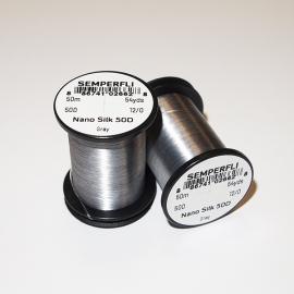 Semperfli Nano Silk 50D 12/0 Thread / Gray