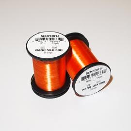 Semperfli Nano Silk 50D 12/0 Thread / Orange