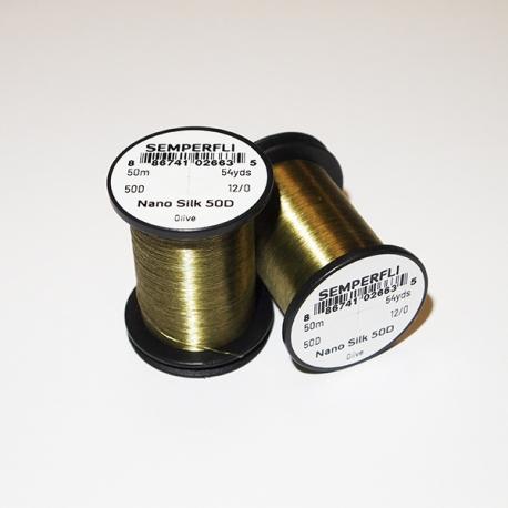 Semperfli Nano Silk 50D 12/0 Thread / Olive