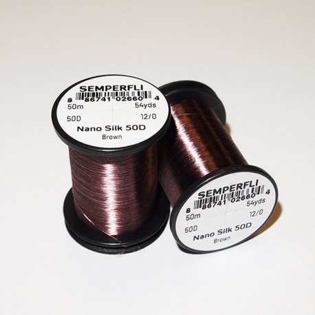 Semperfli Nano Silk 50D 12/0 Thread / Brown