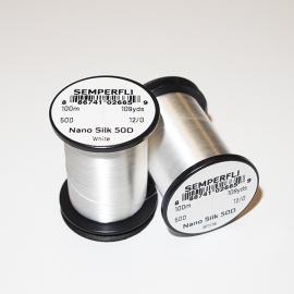 Semperfli Nano Silk 50D 12/0 Thread / White