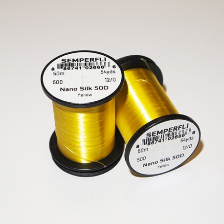 Semeperfli Nano Silk 50D 12/0 Thread / Yellow
