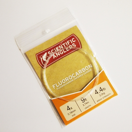 Scientific Anglers Fluorocarbon Leader 9ft 4X