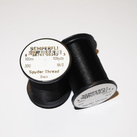 Semperfli 18/0 Spyder Thread Black