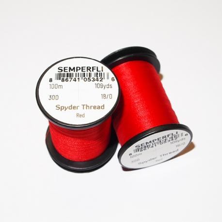 Semperfli 18/0 Spyder Thread Red