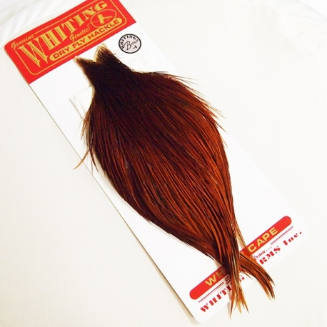 Whiting Dry Fly Hackle Pro Grade Midge Cape Brown