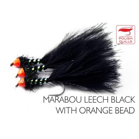 Marabou Leach Black Orange Head