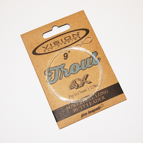 Vision Trout Tapered Leader 4X / 9ft