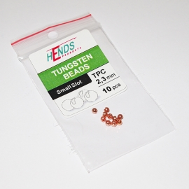 Hends Tungsten Slotted Beads 2.3mm / 10pc Cooper