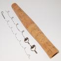 Pac Bay 11ft Fly Rod Hard Chrome Lite & Hard Snake Gudes Set plus Cork Handle