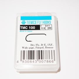 Tiemco 100 Fly Hooks #14 / box 20pc