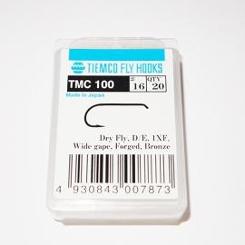 Tiemco 100 Fly Hooks #16 / box 20pc