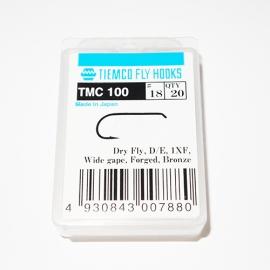 Tiemco 100 Fly Hooks #18 / box 20pc