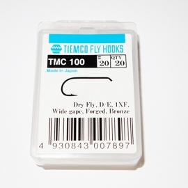 Tiemco 100 Fly Hooks #20 / box 20pc