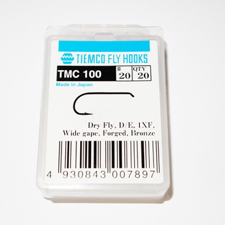 Tiemco 100 Fly Hooks #20 / box 20pc