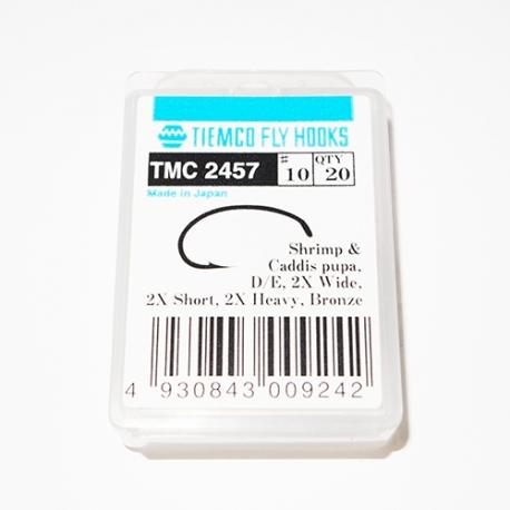 Tiemco 2457 Fly Hooks #10 / box 20pc