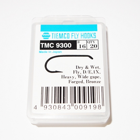 Tiemco 9300 Fly Hooks #16 / box 20pc