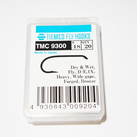 Tiemco 9300 Fly Hooks #18 / box 20pc