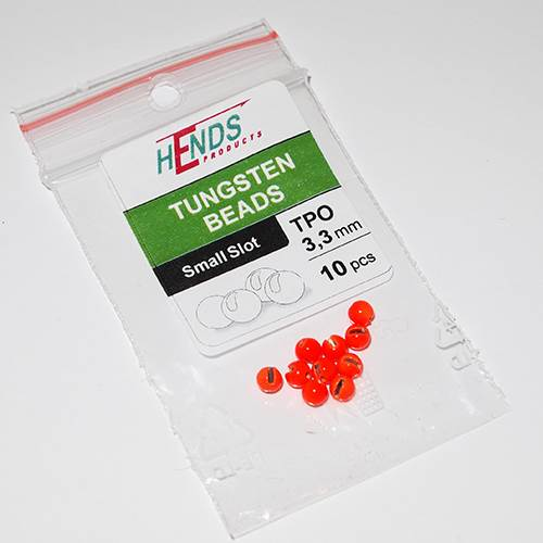 Hends Tungsten Slotted Beads 3.3mm / 10pc Orange