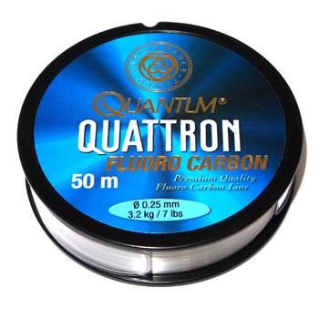 Quantum Quattron 100% Fluorocarbon 0.25mm / 50m